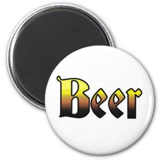 Beer 6 Cm Round Magnet