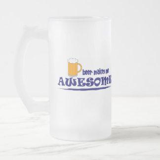 Beer Makes Me Awesome Beer Mug