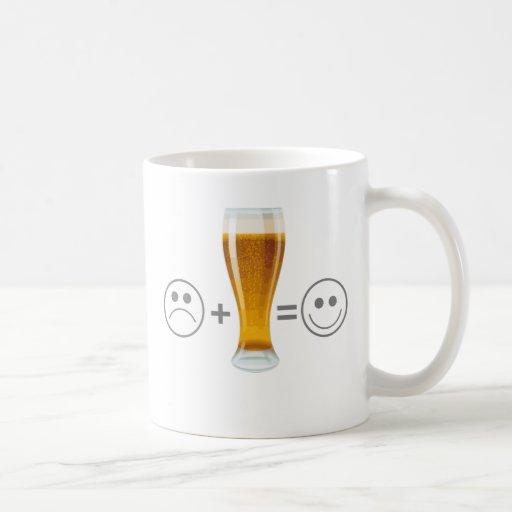 Beer makes me happy mugs