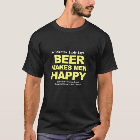 Beer Makes Men Happy T-Shirt