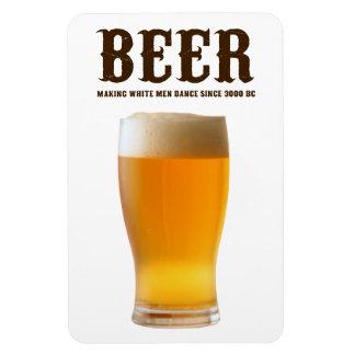 Beer: Making white men dance since 3000 BC Rectangular Photo Magnet