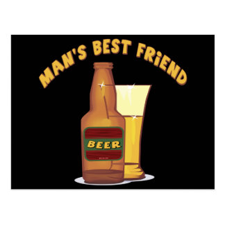 Beer Mans Best Friend T-shirts Gifts Postcard