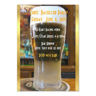 Beer me Bachelor party 13 Cm X 18 Cm Invitation Card