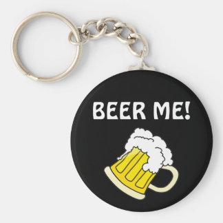 BEER ME! BASIC ROUND BUTTON KEY RING