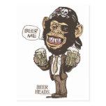 Beer Me Chimp Pirate by Mudge Studios Postcard