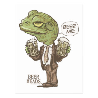 Beer Me Frog by Mudge Studios Postcard
