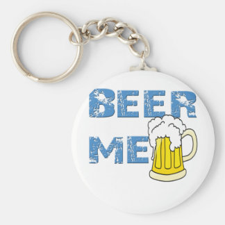beer me funny key chains