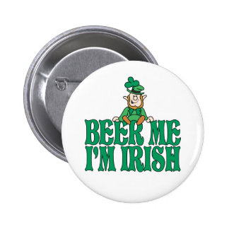 Beer Me I'm Irish Little Leprechaun 6 Cm Round Badge