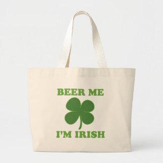 Beer Me Im Irish Jumbo Tote Bag