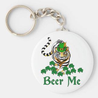 Beer Me Tiger Basic Round Button Key Ring