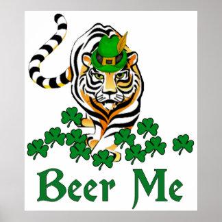 Beer Me Tiger Poster