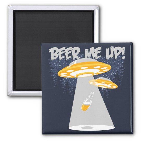 Beer Me Up! Square Magnet