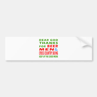 Beer Men And Cross Country Skiing Bumper Stickers