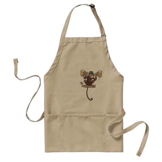 Beer Monkey by Mudge Studios Standard Apron