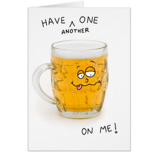 beer monster greeting card
