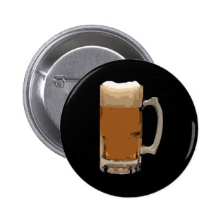 Beer Mug 6 Cm Round Badge