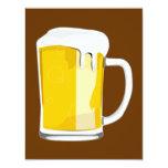 """Beer mug invitation 4.25"""" x 5.5"""" invitation card"""