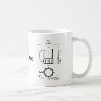 Beer Mug with vintage beer mug invention drawing