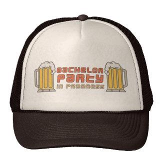Beer Mugs Bachelor Party in Progress Cap