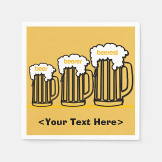 Beer Mugs Personalized Party Napkins Disposable Serviette
