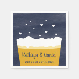 Beer Napkins - A Celebration is Brewing Disposable Napkin