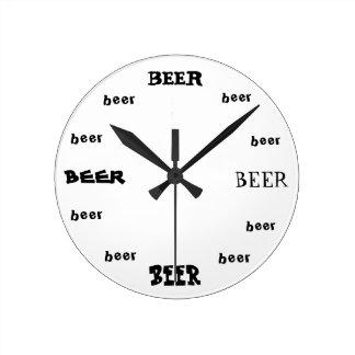 Beer O'Clock Round Clock