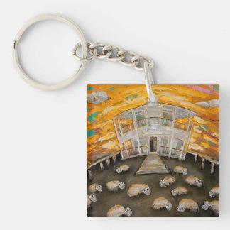 Beer O'Clock Single-Sided Square Acrylic Key Ring