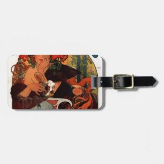 Beer of the Meuse by Alphonse Mucha Luggage Tag