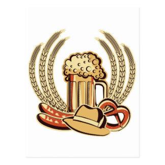 Beer Oktoberfest Graphic Postcard