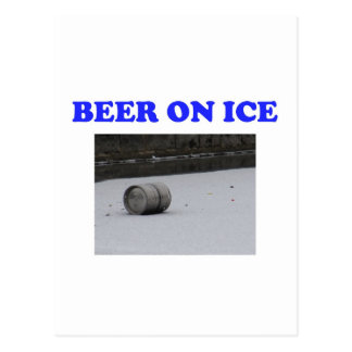 Beer on ice post cards