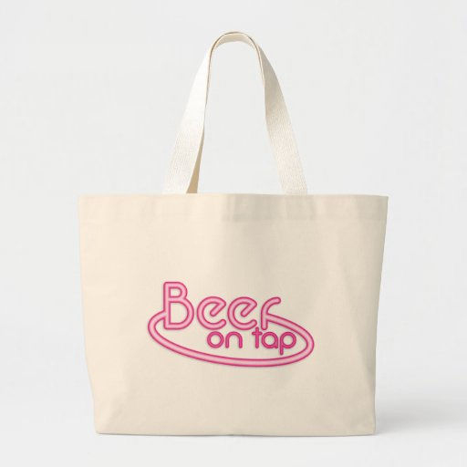 Beer on TAP fluro Canvas Bag