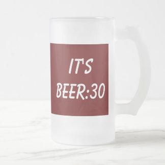 Beer Philosophy Frosted Glass Beer Mug