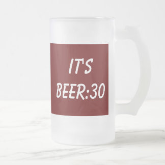 Beer Philosophy Frosted Glass Mug