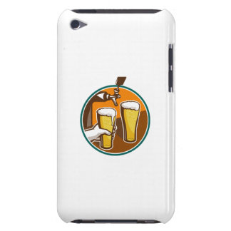 Beer Pint Glass Hand Tap Retro Barely There iPod Case