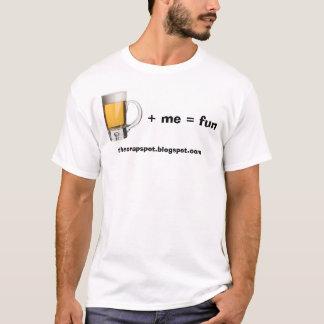 Beer plus me equals fun T-Shirt