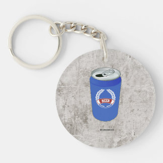 Beer Pocket Single-Sided Round Acrylic Keychain