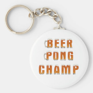Beer Pong Champ Key Chain