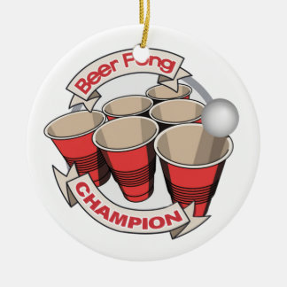 Beer Pong Champion award Christmas Ornament