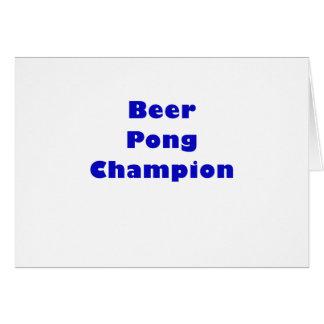 Beer Pong Champion Card