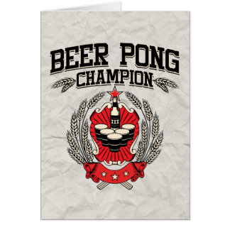 Beer Pong Champion Card