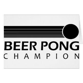 Beer Pong Champion Greeting Card