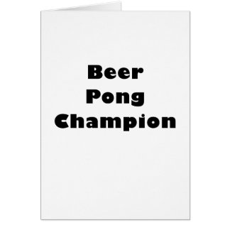 Beer Pong Champion Cards