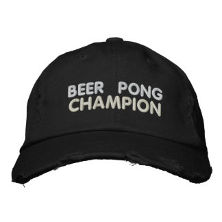 Beer Pong Champion Embroidered Cap