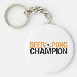 beer pong champion keychain