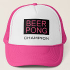 Beer Pong-Champion Pink Trucker Hat