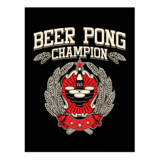 Beer Pong Champion Post Card