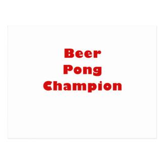 Beer Pong Champion Postcards
