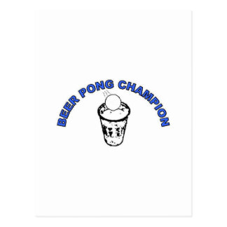 Beer Pong Champion Post Card