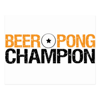 beer pong champion post cards