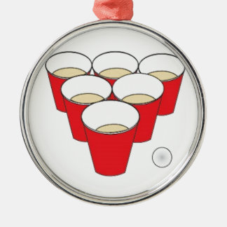 Beer Pong Cups Christmas Ornament